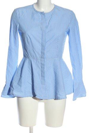 Adolfo Dominguez Koszulowa bluzka niebieski-biały Wzór w paski W stylu casual