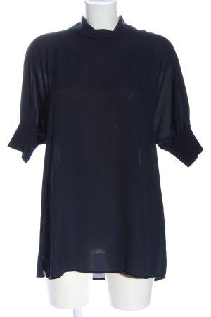 Adolfo Dominguez Kurzarm-Bluse blau Casual-Look