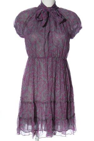 Adolfo Dominguez Sukienka z krótkim rękawem jasnoszary-różowy Elegancki