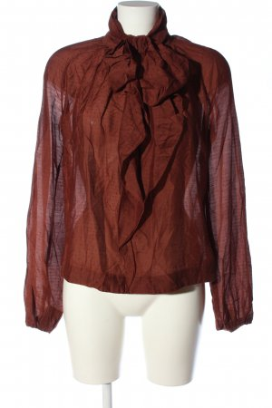 Adolfo Dominguez Long Sleeve Blouse red allover print casual look