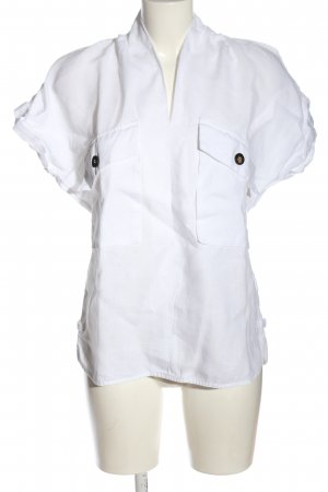 Adolfo Dominguez Blusa de lino blanco look casual