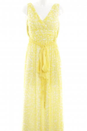 Adolfo Dominguez Maxi Dress primrose-white allover print casual look