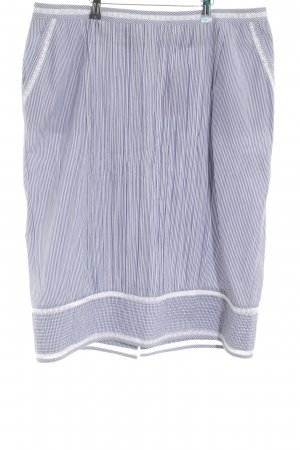 Adolfo Dominguez Midi Skirt blue-white striped pattern casual look