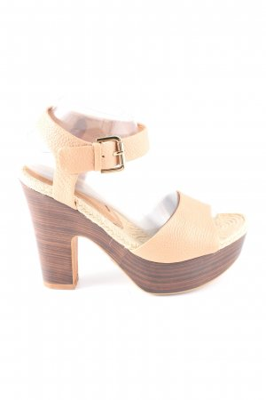 Adolfo Dominguez Platform Sandals cream casual look