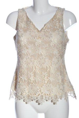 Adolfo Dominguez Koronkowa bluzka kremowy-w kolorze białej wełny Elegancki