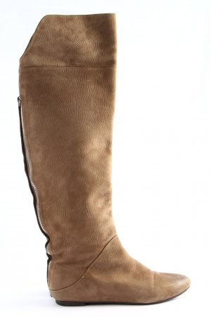 Adolfo Dominguez Wide Calf Boots natural white