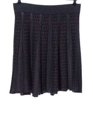 Adolfo Dominguez Jupe corolle noir motif de tache style mouillé