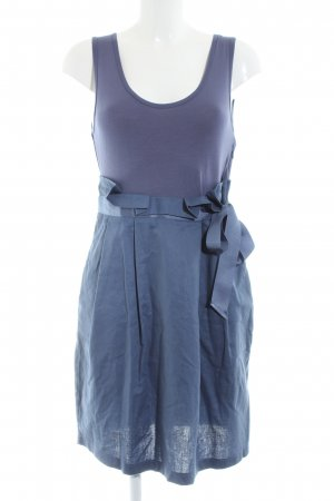 Adolfo Dominguez Pinafore dress blue casual look