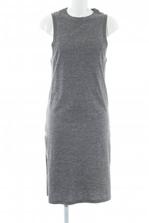 ADPT. Maxi Dress light grey flecked casual look
