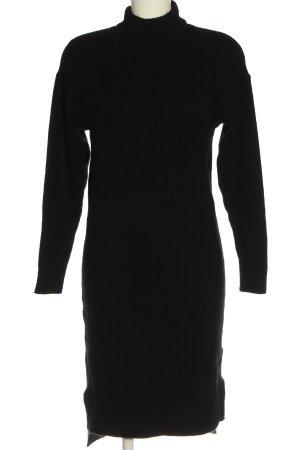 ADPT. Abito di maglia nero puntinato stile casual