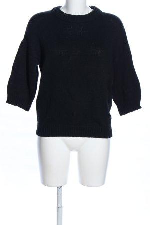 ADPT. Strickpullover schwarz Casual-Look