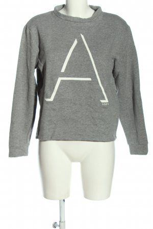 ADPT. Felpa bianco-grigio chiaro puntinato stile casual
