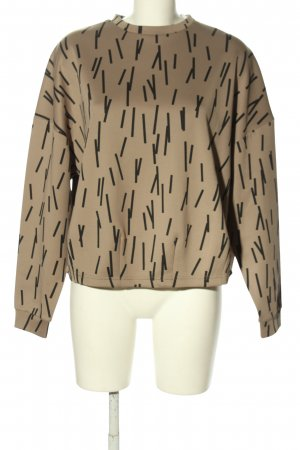 ADPT. Sweatshirt room-zwart abstract patroon casual uitstraling