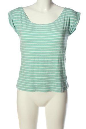 Adrett Gestreept shirt turkoois-wit gestreept patroon casual uitstraling