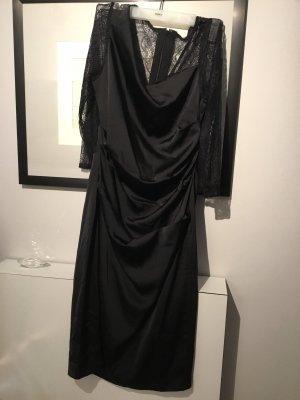 Adriana Papell Kleid elegant schwarz Neupreis 139 Euro Damen extravagant spitze