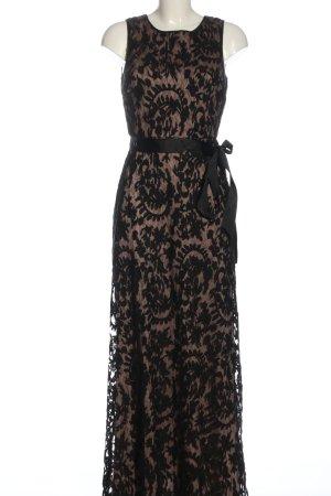 Adrianna Papell Suknia wieczorowa czarny-brązowy Abstrakcyjny wzór Elegancki
