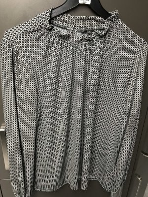 Adrianna Papell Blusa de manga larga verde oscuro-gris antracita