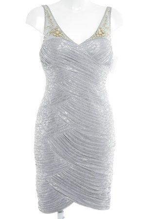 Adrianna Papell Vestido de cóctel color plata estilo extravagante