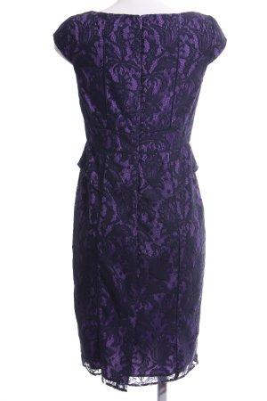 Adrianna Papell Vestido ceñido de tubo lila-negro elegante