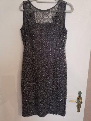 Adrianna Papell Sequin Dress anthracite mixture fibre