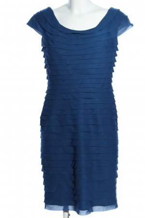 Adrianna Papell Vestido de manga corta azul look casual