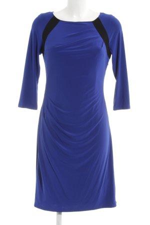 Adrianna Papell Vestido de manga larga azul oscuro-negro elegante