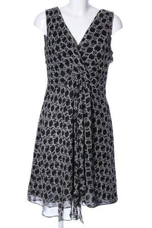 Adrianna Papell Midi Dress black-white spot pattern casual look