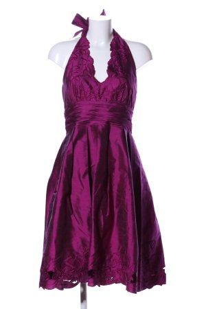 Adrianna Papell Vestido de cuello Halter rosa elegante