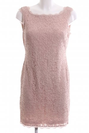 Adrianna Papell Vestido de encaje rosa estampado floral elegante