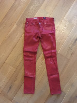 Adriano Goldschmied Drainpipe Trousers red cotton