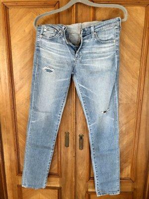 Adriano Goldschmied Tube jeans leigrijs-lichtblauw
