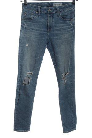 Adriano Goldschmied High Waist Jeans blau Casual-Look