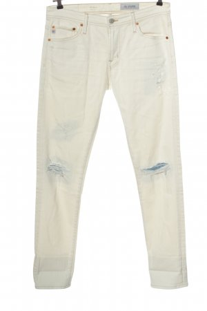 Adriano Goldschmied Low Rise Jeans white casual look
