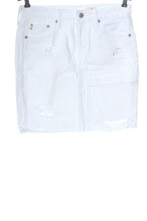 Adriano Goldschmied Denim Skirt white casual look
