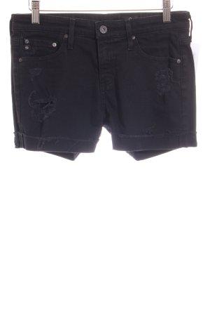 Adriano Goldschmied Jeansowe szorty czarny Aplikacja z logo
