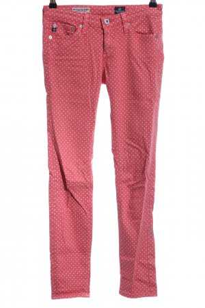 Adriano Goldschmied Tube Jeans bright red-white spot pattern extravagant style