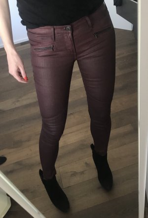 Adriano Goldschmied Skinny Jeans 26 AG Luxus Leder Look coated Blogger