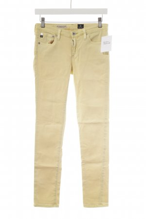 Adriano Goldschmied Skinny Jeans blassgelb Street-Fashion-Look
