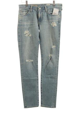 Adriano Goldschmied Skinny Jeans hellblau Destroy-Optik