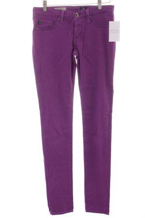 Adriano Goldschmied Skinny Jeans lila Casual-Look