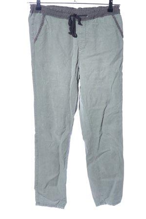 Adriano Goldschmied Spodnie materiałowe zielony-jasnoszary W stylu casual