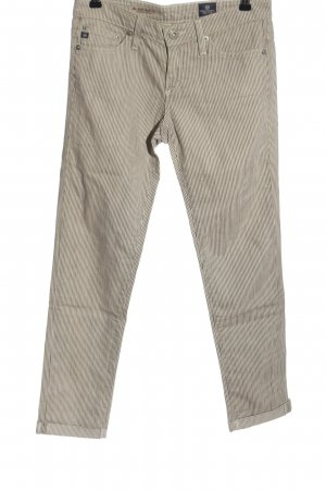 Adriano Goldschmied Jersey Pants natural white allover print casual look
