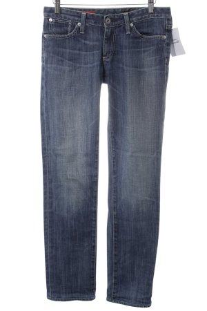 Adriano Goldschmied Straight-Leg Jeans stahlblau Street-Fashion-Look