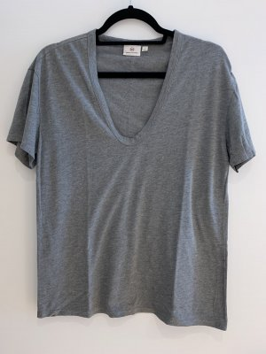 Adriano Goldschmied V-Neck Shirt grey mixture fibre
