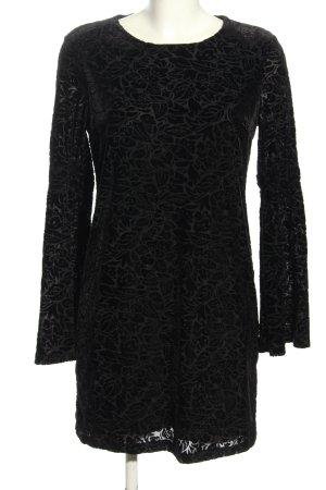 Adrienne Vittadini Sukienka z długim rękawem czarny-jasnoszary W stylu casual