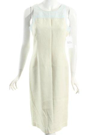 Adrienne Vittadini Sukienka midi kremowy-jasnoniebieski Wygląd w stylu miejskim