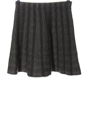 Adrienne Vittadini Spódnica mini czarny Wzór w paski W stylu casual