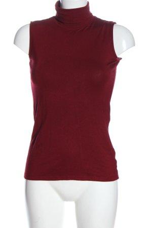 Adrienne Vittadini Top con colletto arrotolato rosso stile casual