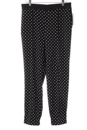 Adrienne Vittadini Spodnie materiałowe czarny-biały Wzór w kropki