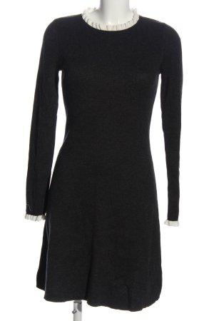 Adrienne Vittadini Knitted Dress black flecked casual look